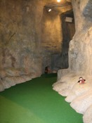 Putt inside the long cave
