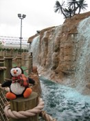 Putt thinks the waterfall is cool